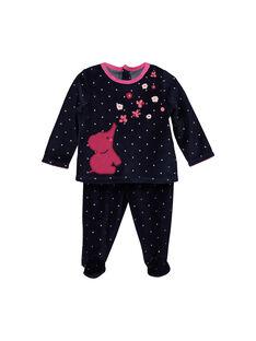 Baby girls' velour pyjamas FEFIPYJANI / 19SH1342PYJ099