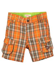 Boys' checked shorts FOYEBER4 / 19S902M1BERF519
