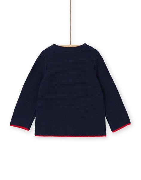 Baby boy's fine knit night blue vest LUHAGIL / 21SG10X1GIL713