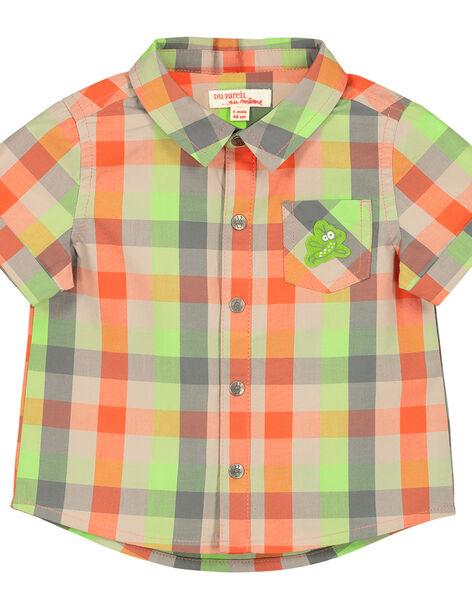 Baby boys' checked shirt FUYECHEM / 19SG10M1CHM099