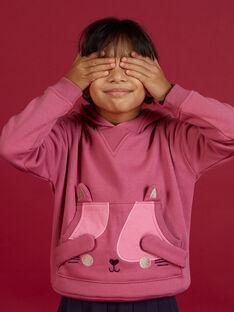 Child girl hoodie with cat animation MAFUNSWEA / 21W901M1SWEH700