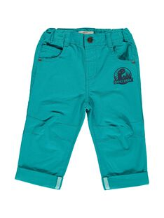 Baby boys' turquoise trousers CUDOUPAN / 18SG10J1PAN714
