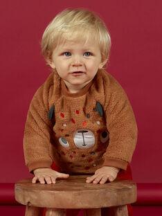 Baby boy brown bear sweatshirt MUFUNSWE / 21WG10M1SWEI820