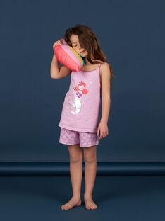Lilac pyjamas for girls LEFAPYJMER / 21SH11C8PYJH700