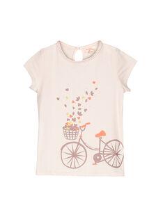 Girls' short-sleeved T-shirt FAJOUTEE / 19S901T1TMC307