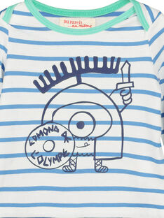Baby boys' striped T-shirt FUNETEE2 / 19SG10B2TML099