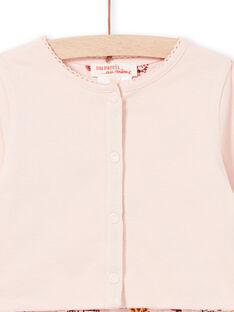 Pink reversible baby girl vest LITERCAR / 21SG09V1CARD322
