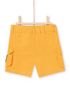Baby Boy Mustard Yellow Shorts LUTERBER3 / 21SG10V3BERB106