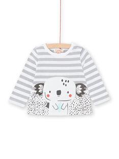 Baby boy striped long sleeve T-shirt LUPOETEE1 / 21SG10Y3TML001