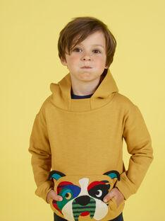 Boy's mustard hoodie MOMIXSWE / 21W902J1SWEB101