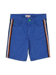 Boys' blue shorts FOCOBER2 / 19S90282BER703