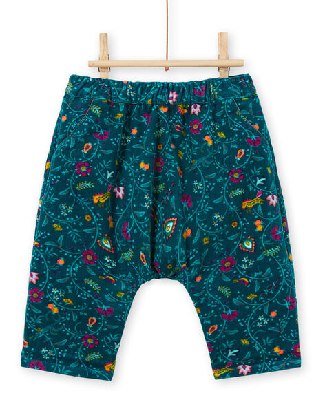 Baby girl reversible duck blue pants MITUPAN / 21WG09K1PAN714