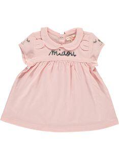 Baby girls' short-sleeved T-shirt CIBENBRA / 18SG09G1BRA321