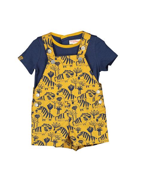 Baby boys' dungarees and T-shirt set FUBAENS / 19SG1061ENS107