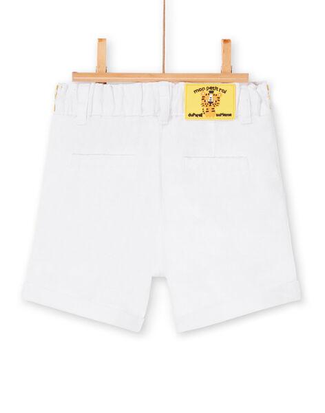 White Bermuda shorts baby boy LUBALBER / 21SG10O1BER000