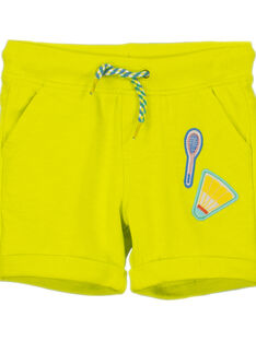 Boys' yellow shorts FOCABER3 / 19S902D3BER117