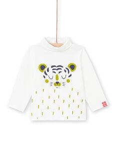 Baby boy's yellow rabbit print long sleeve underwear MUJOSOUP4 / 21WG10N4SPL117