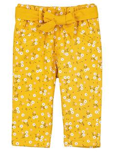 Yellow trousers GIJAUPAN / 19WG09H1PANB107