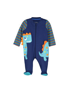 Baby boys' zipped sleepsuit FEGAGREDIN / 19SH1491GRE070