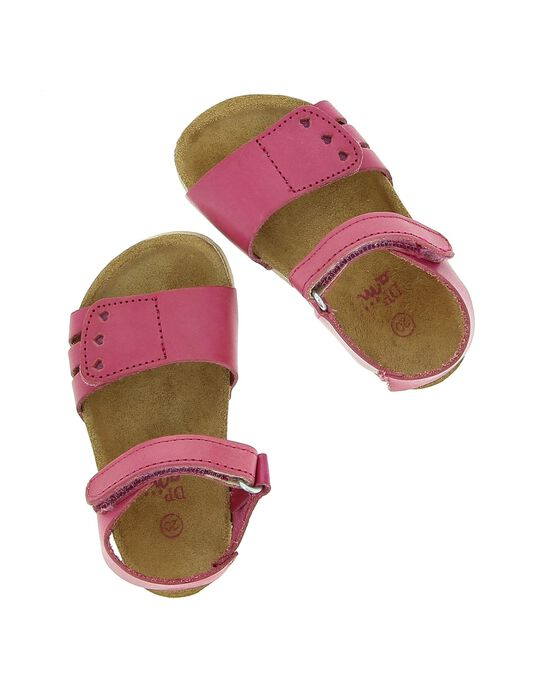Baby girls' leather sandals CBFNUVEL / 18SK37WED0E304