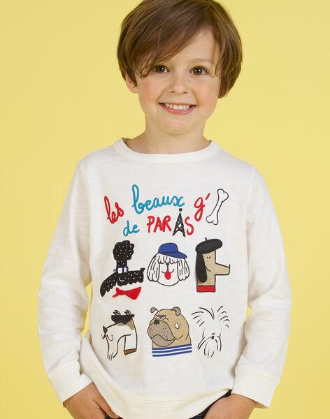 Boy's white T-shirt MOMIXTEE2 / 21W902J3TML810