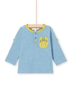 Baby Boy Blue Long Sleeve Roll Up T-Shirt MUJOTUN1 / 21WG1021TML020