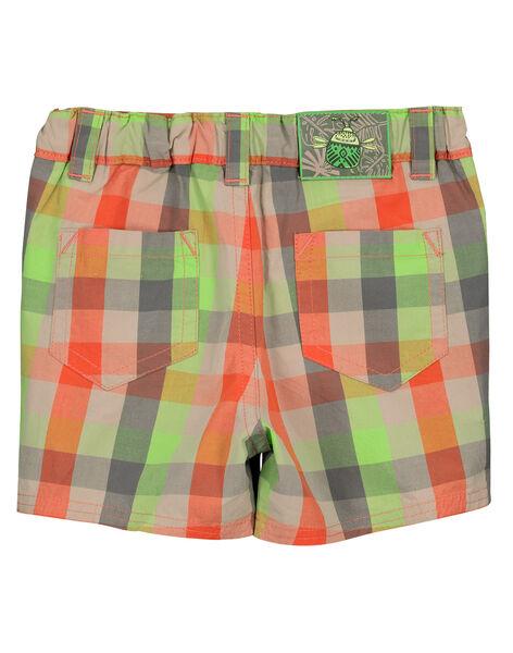 Baby boys' checked shorts FUYEBER3 / 19SG10M3BER099