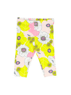 Baby girls' floral leggings FYIPOLEG / 19SI09C1CAL099