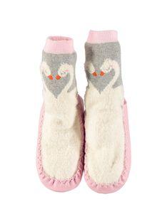 Girls' slipper socks DFCCSWA / 18WK35W2D08956