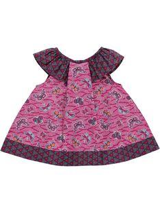 Baby girls' sleeveless smock CIGAUCHEM / 18SG09L1CHE099