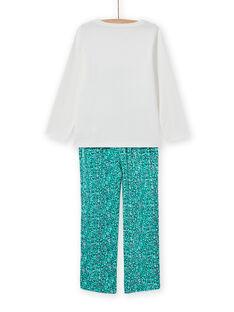 Girl's fancy crocodile pajama set MEFAPYJCRO / 21WH1182PYJ001