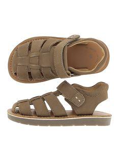 Boys' leather sandals CGSANDTAUP / 18SK36W3D0E803