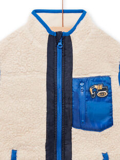 Sleeveless vest with sheep effect for child boy MOCOVES / 21W902L2GIL009