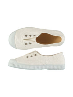 Girls' embroidered canvas trainers FFTENBROD3 / 19SK35B7D16000
