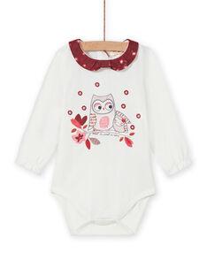 Baby girl's long sleeve bodysuit with fantasy motif MIFUNBOD / 21WG09M1BOD001
