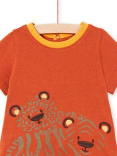 Baby Boy Brick & Orange T-Shirt & Shorts LUTERENS / 21SG10V1ENSF519