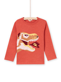 Boy's orange and yellow T-shirt MOPATEE1 / 21W902H3TMLE415