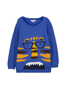 Boys' cotton knit sweater FOBAPUL / 19S90261PULC212