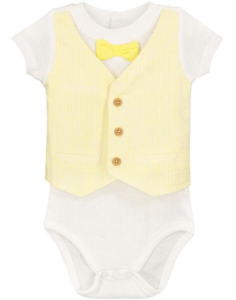 Baby boys' suit effect bodysuit FUPOBOD / 19SG10C1BOD000