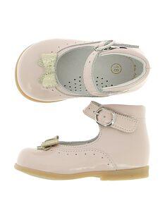 Baby girls' leather Mary-Janes CBFBABNOEU / 18SK37W2D3I030