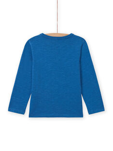 Boy's blue dragon T-shirt MOPLATEE2 / 21W902O1TML221