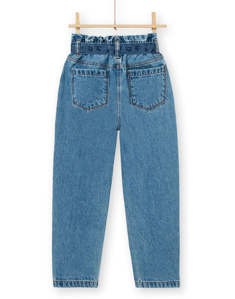 Jean paper bag and blue cotton belt LABLEJEAN / 21S901J1JEAP274