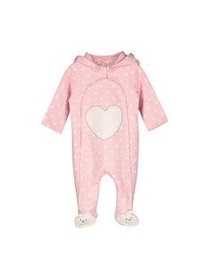 Baby girls' fleece sleepsuit FEFISURPYJ / 19SH1341SPY099