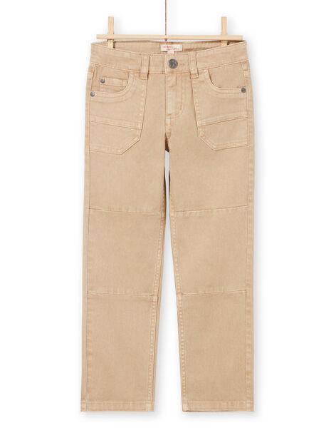 Boy's beige jeans MOCOPAN / 21W902L1PAN811
