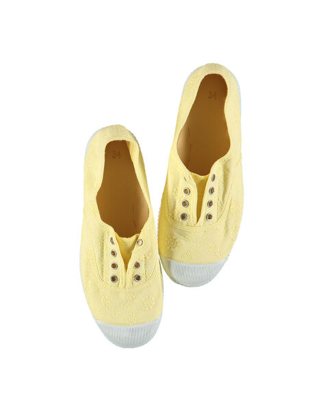 Girls' embroidered canvas trainers FFTENBROD2 / 19SK35B5D16010