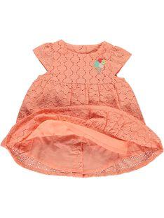 Baby girls' embroidered dress CIBUROB3 / 18SG09K1ROB401