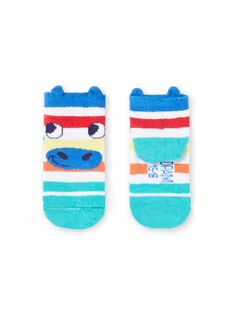 Baby boy's striped socks with zebra head design JYUMARCHO1 / 20SI10P2SOQ000