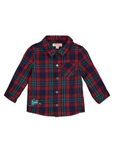 Baby boys' checked shirt GUVECHEM / 19WG1021CHM608