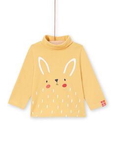 Baby boy's ecru tiger print long sleeve underwear MUJOSOUP3 / 21WG10N3SPL001