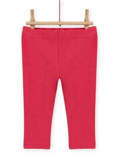Baby girl's red heart print dress and striped leggings set MIFUNENS / 21WG09M1ENS511